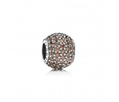 Brown Pavé Ball Charm
